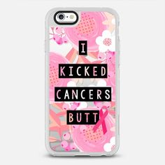 I Kicked Cancers Butt Block Floral Breast Cancer Awareness  - New Standard Case