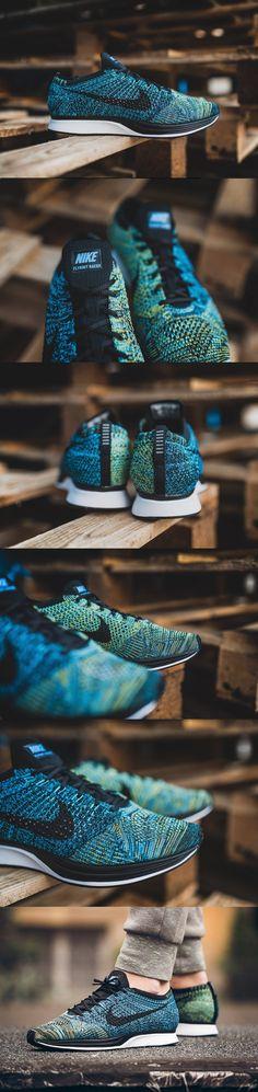 #Nike #Flyknit #Racer #Crew #Blue