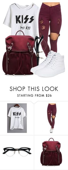 """""""Untitled #560"""" by msfts-rep on Polyvore featuring WithChic, Ace, M Z Wallace and Vans"""