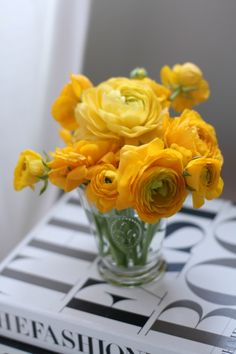 small bud vases with same flower (different in each bud vase)