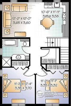 House plan W3954-V1 detail from DrummondHousePlans.com