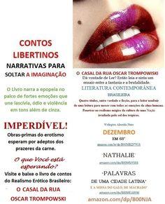 Start reading O CASAL DA RUA OSCAR TROMPOWSKI/CONTOS LIBERTINOS/ERÓTICOS/Welington Almeida Pinto. Enjoy: amazon.com/dp/B00NJAKOA4  Acesse o Books by Welington Almeida Pinto:  http://www.amazon.com/-/e/B00L8RZV5S       Baixe também outros livros da Literatura Brasileira: 'DEZEMBRO DE 68' - 'Nathalie' - 'Palavras de uma Cidade Latina e a Missa do Galo, de Machado' – 'Contos Libertinos.    Esqueçam tudo que estão habituados a ler sobre 1968, o Ano das Transformações