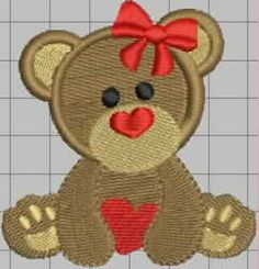 Daia's designs Embroidery Designs, Teddy Bear, Toys, Toy, Teddybear, Games, Beanie Boos