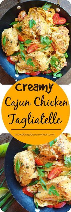 Creamy Cajun Chicken Tagliatelle