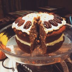 Recipe: Healthy Carrot Cake with Pecans Healthy Carrot Cakes, Pecans, Carrots, I Am Awesome, Bakery, Favorite Recipes, Healthy Recipes, Culture, Eat