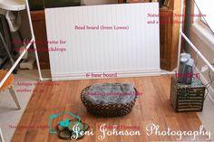 pull back of DIY newborn photography set up  Jeni Johnson photography