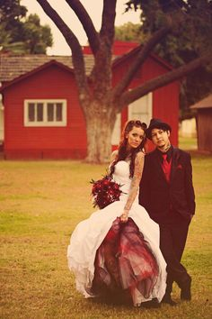 Mr & Mrs Tattooboy's Heavily Tattooed, Ass Kickin' Rockabilly Wedding