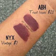 NYX and Anastasia of Beverly Hills liquid lipstick dupe