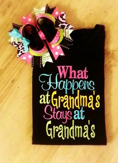 What happens at Grandma's Stays at Grandma's by SouthernBelleBows, $24.00