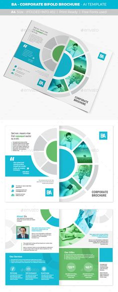 corporate brochure flyer design layout template in A4 size, with - pamphlet layout template