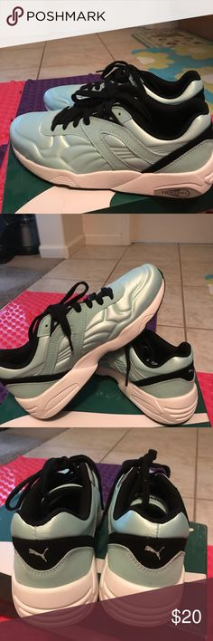 Puma sports shoes Mint blue, size is 8.5. Never wore! Brand new with original box. Puma Shoes Sneakers