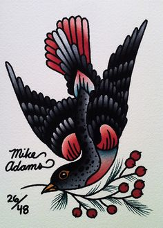 By Mike Adams! #neotraditional #tattooflash