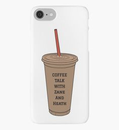 Coffee Talk with Zane and Heath iPhone Case/Skin