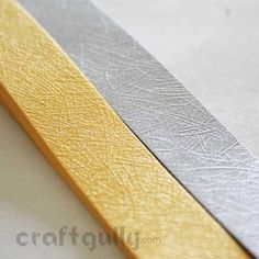 Perfect for quilled jewellery and other exclusive projects, this exquisite one-of-a-kind quilling paper has a lined texture to set your projects apart!