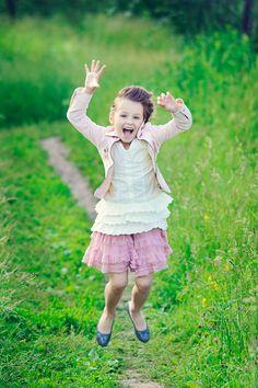 Photography children, jumping