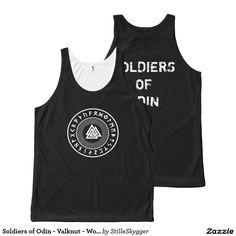 Soldiers of Odin - Valknut - Wotans Knot Tank Top  https://www.zazzle.com/soldiers_of_odin_valknut_wotans_knot_all_over_print_tank_top-256638215964539368  #odin #valknut #wotansknot #marvelodin #eyeofodin #odinart #valhalla #soldiersofodin #odinclothing #odinartwork #odinfatheroftheaesir #runes #celtic #nordic #viking #magic #spiritual #spirituality #rune #norse #pagan #mythology #asatru #asgard #circle #symbol #scandinavian #myths #legends #mysticism #paganism #neopagan #wodan #amulet…
