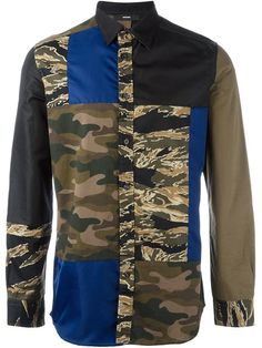 DIESEL camouflage patchwork shirt.  diesel  cloth  shirt Latest Mens  Fashion 610d19a7a
