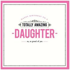 Picture of Relation Birthday Card - Daughter