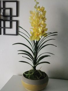 27 Yellow Real Touch Silk Vanda Orchid by FineOrchidCreations