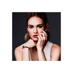 Lily James || cut by sue ❤ liked on Polyvore featuring lily james