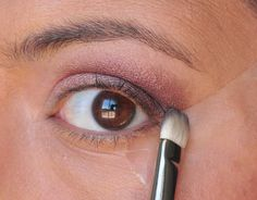 Use a piece of scotch tape as a stencil for eyeshadow and eyeliner.