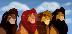 Here is a commision for of her character sihle walking with simba and kovu. Sihle, Kovu and Simba Lion King Tree, Lion King Story, Lion King Fan Art, Lion Art, The Lion King 1994, Lion King 2, Disney Lion King, Lion King Pictures, Le Roi Lion
