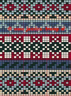 isle knitting + Fee Patteyai +,fair isle knitting + Fee Patteyai +, Tricksy Knitter by Megan Goodacre Tejido Fair Isle, Punto Fair Isle, Motif Fair Isle, Fair Isle Chart, Fair Isle Pattern, Fair Isle Knitting Patterns, Knitting Charts, Lace Knitting, Knitting Stitches
