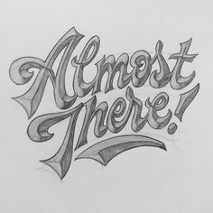 Getting close to finishing a bunch of smaller projects I've had on my plate for a while. #lettering #handlettering #script