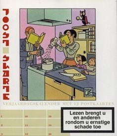 Birthday calendar with 12 postcards, by Joost Swarte. Ed. Thomas Rap, Amsterdam, 2006