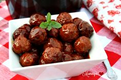 Mommy's Kitchen - Recipes from my Texas Kitchen : Crock Pot Party Meatballs Quick And Easy Appetizers, Appetizers For Party, Christmas Appetizers, Teriyaki Chicken, Butter Chicken, Slow Cooker, Honey Barbecue Sauce, Party Meatballs, Country Cooking