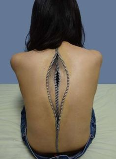 Zip me Up Darking #zipper #tattoo #darknessinside | Insane 3D tattoos