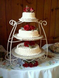Three Tiered Cake unstacked