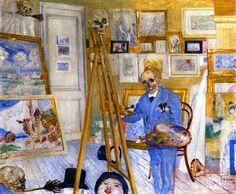 James Ensor, The Skeleton Painter. Críptico pero fascinante.