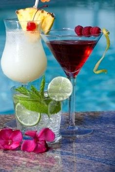 Fruity blends or shaken, not stirred, pool parties are all about cocktails!