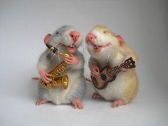 авторская игрушка, крыски , укулеле, саксофон