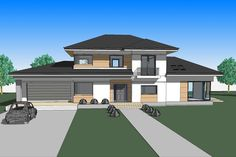 DOM.PL™ - Projekt domu ATS AT-154 CE - DOM UP2-11 - gotowy koszt budowy One Storey House, 2 Storey House Design, House Plans Mansion, Home Fashion, Construction, Mansions, House Styles, Outdoor Decor, Houses