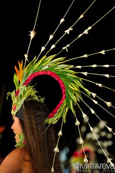 Matareva photo - love the Polynesian dancer headpiece.