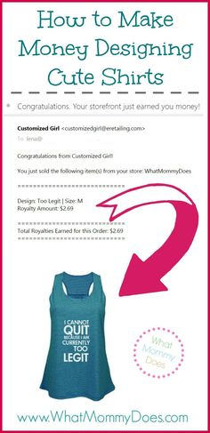 1000 ideas about making t shirts on pinterest ribbon for Can you make money selling t shirts online