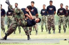 Pakistan Army hand to hand action .
