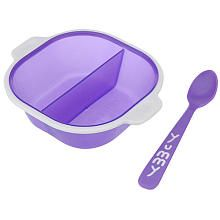Babies R Us Divided Bowl and Spoon - Purple