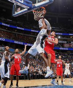 Orlando Magic  Dwight Howard fouled by Kris Humphries. 12.29.11