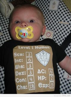 Nerd Baby -  change it to WoW stats ;-)