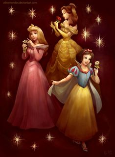 Playing my light with Princesses by *AlineMendes on deviantART #disney #fanart #disneyfanart