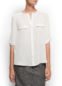 Loose-fit sheer shirt = <3