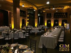 Amber Uplighting for a Magnifique Sirromet Winery Wedding - G&M Event Group | Event Lighting #Wedding #EventLighting #LightingDesgin #Uplighting Event Lighting, Wines, Amber, Ivy