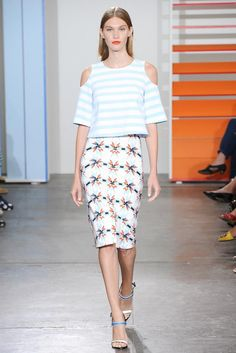 See all the Collection photos from Tanya Taylor Spring/Summer 2015 Ready-To-Wear now on British Vogue Vogue Fashion, New York Fashion, Runway Fashion, Spring Fashion, High Fashion, Fashion Show, Fashion Design, Dior Couture, Larissa Hofmann