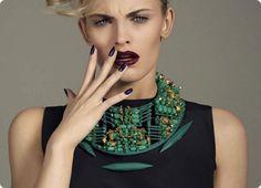 fashion meets beauty: maxime van der heijden by rosi de stefano for vogue italia february 2013