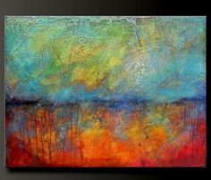 Oxidized Metal - 40 x 30 - Acrylic Abstract Painting - HUGE - Highly Textured