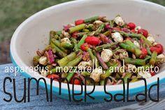 Make Grow Do : Asparagus, Mozzarella, and Tomato Summer Salad