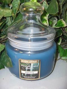 16 oz Apothecary Jar Refreshing Scent Candle by Unique Aromas. $26.93. Price per jar candle. Candle color may vary from photograph. Refreshing scent. This candle is sure to bring joy and warmth to all those in the presence of it.Some assembly may be required. Please see product details.Some assembly may be required. Please see product details.